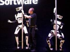 How's that for robotic moves? Pole-dancing droids strut their stuff at computer expo