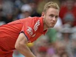 stuart broad out of england v west indies t20 series with knee problem