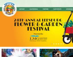 "new website ""blooms"" for leesburg flower & garden festival"