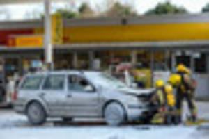 petrol station fire forces gloucester road closure